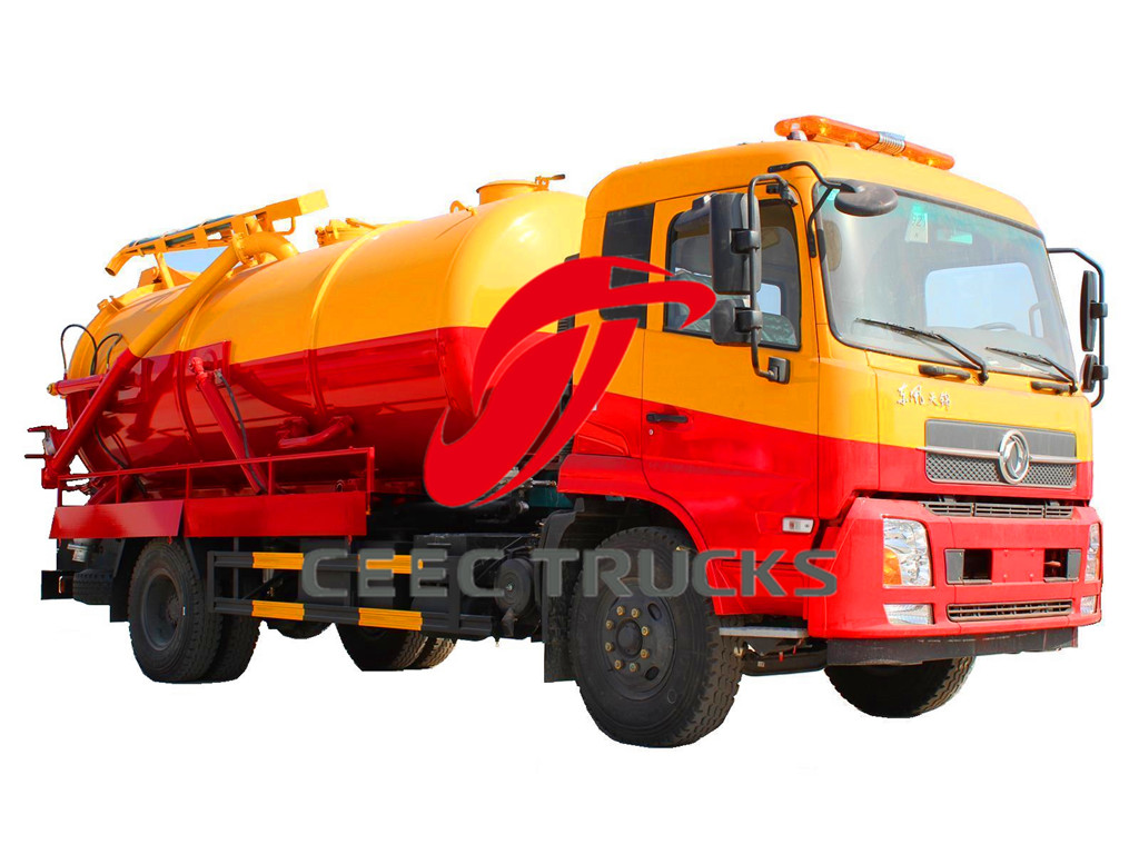 dongfeng 10 CBM cesspit emptier drawing