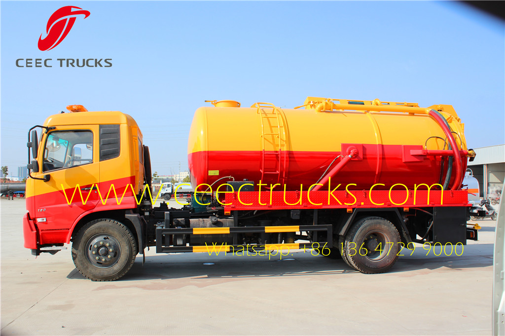 Congo customer choose Dongfeng 10000L vacuum suction trucks advantages