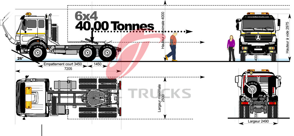 beiben 10 wheeler towing truck