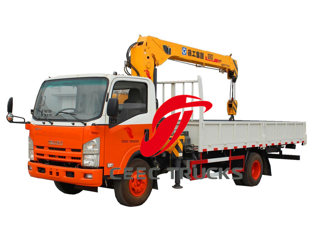isuzu 5 t truck mounted crane drawing