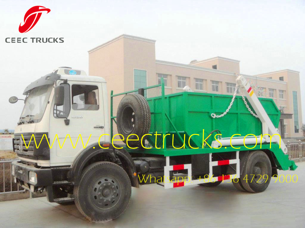 Beiben 10-12 CBM skip load trucks wholesale