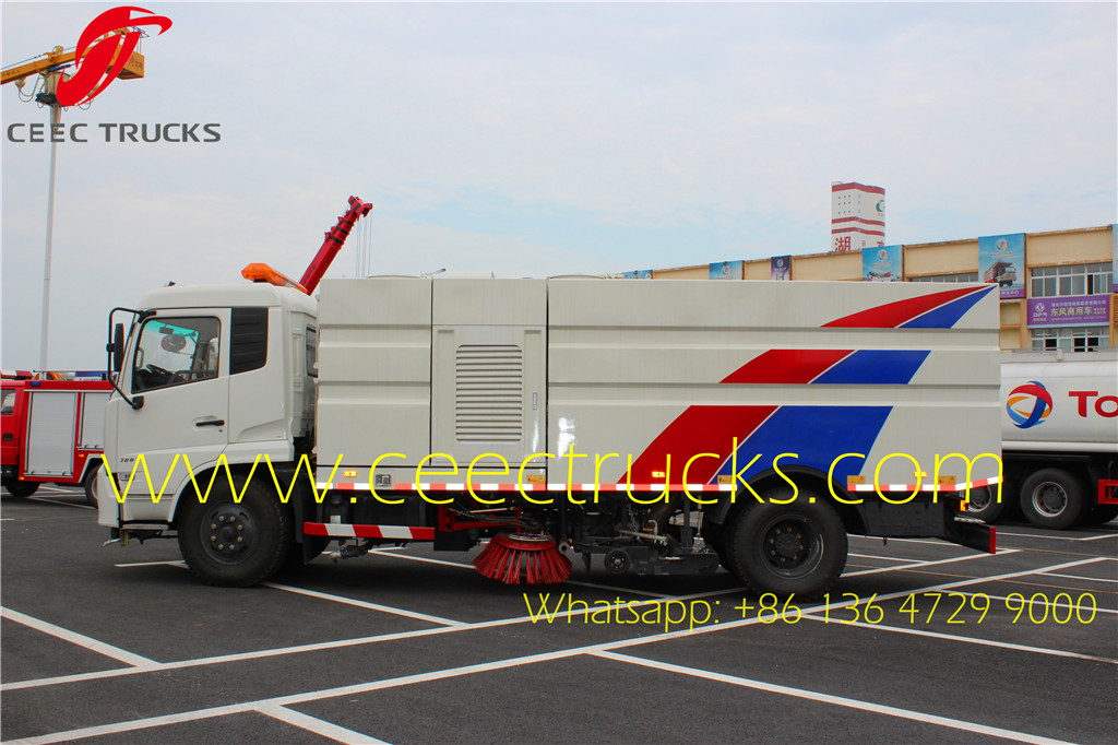 Dongfeng 8000 liters road sweeper trucks supplier
