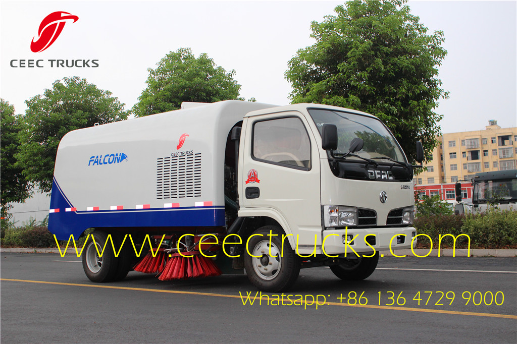 Dongfeng 4 CBM road sweeper truck export Ecuador