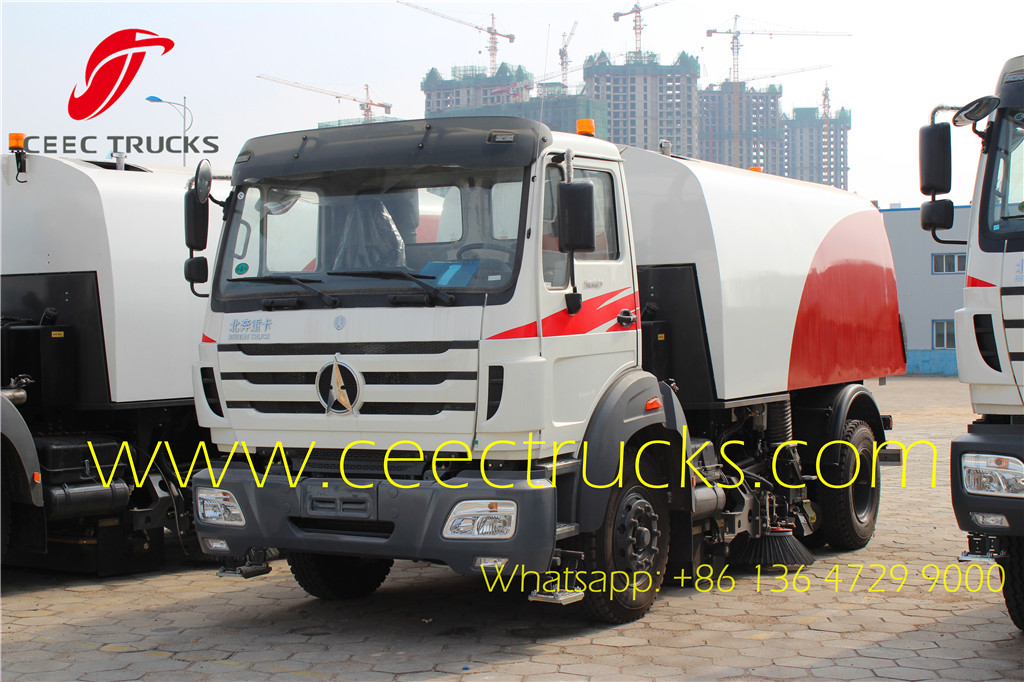 Beiben 8CBM road sweeper trucks supplier