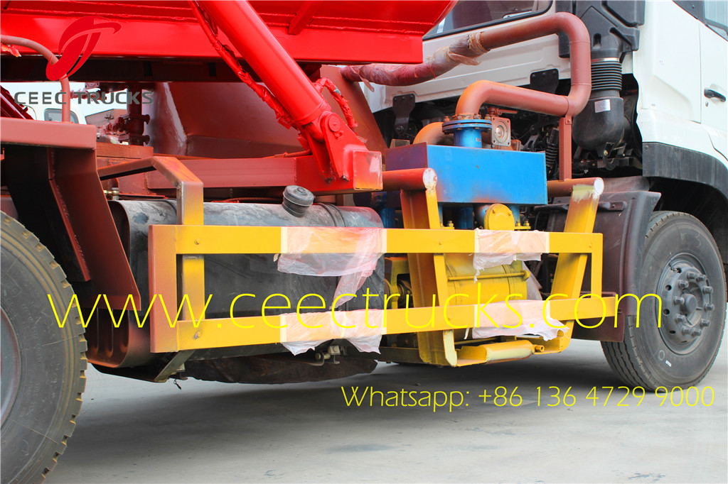 Dongfeng 18000liters vacuum suction tanker trucks vacuum pump system