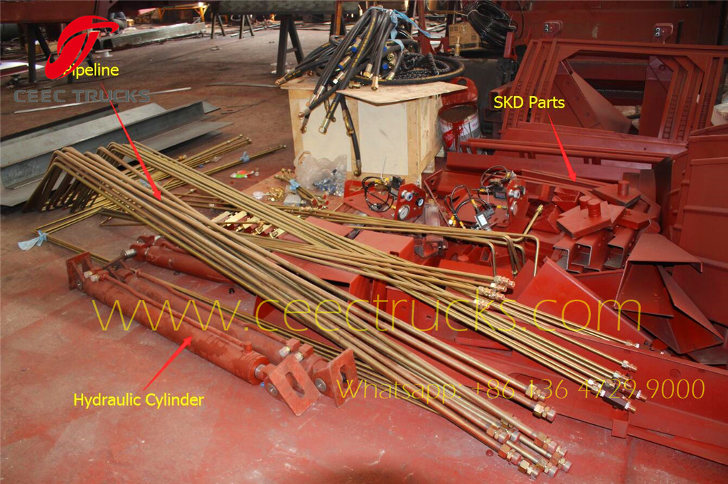whole view for garbage compactor truck parts