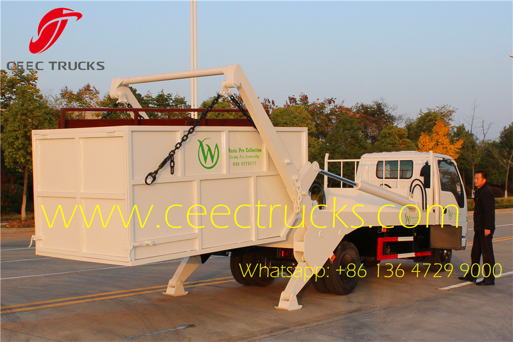 ISUZU 6CBM skip loader refuse vehicle Laos