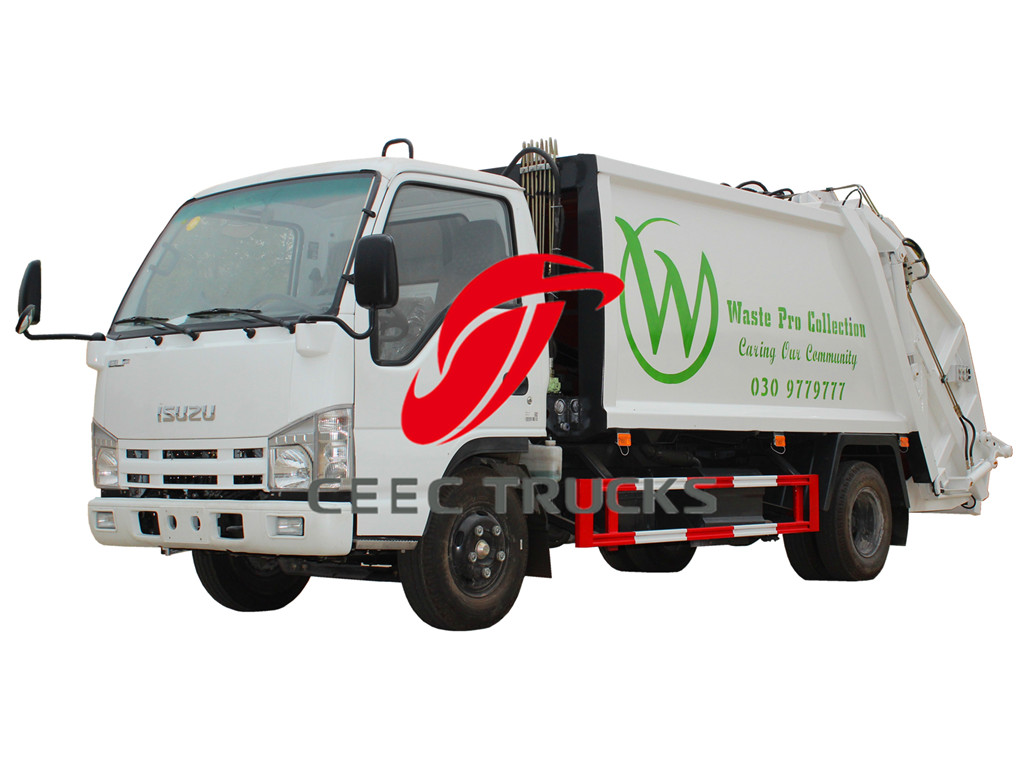 ISUZU 6000 liters refuse compressed truck sale