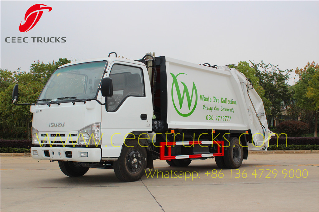 ISUZU 6000 liters refuse compressed truck export