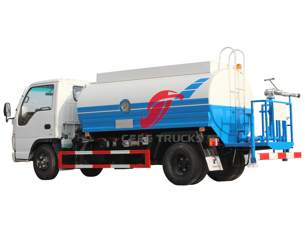 ISUZU 5CBM water tanker truck manufacturer directly sale
