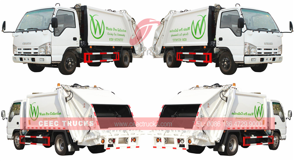 technical drawing for Исузу garbage compactor truck