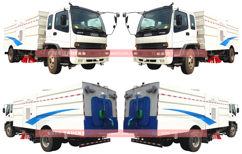 Исузу 12CBM road sweeper truck