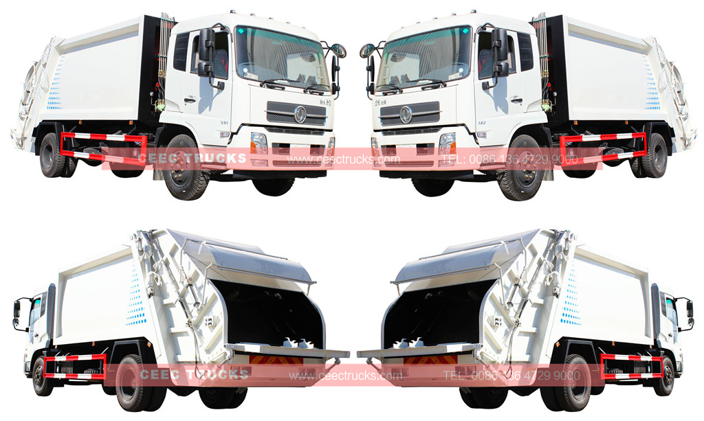14cbm dongfeng rear loader compactor truck