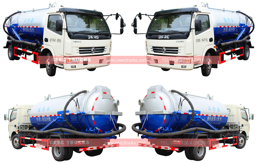 wholeview for DONGFENG 8cbm vacuum suction truck