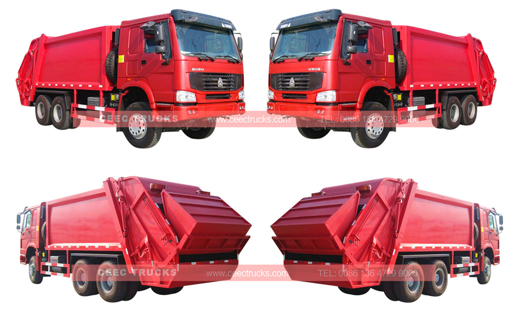wholeview for HOWO refuse compactor truck