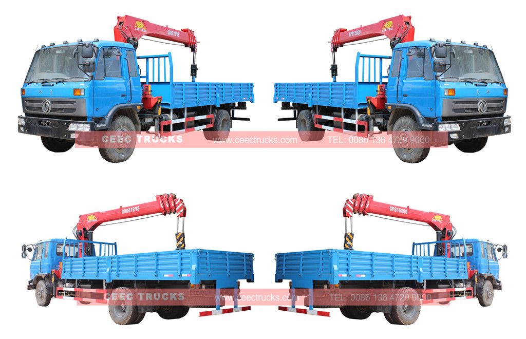 DONGFENG crane truck with 6.T palfinger boom crane
