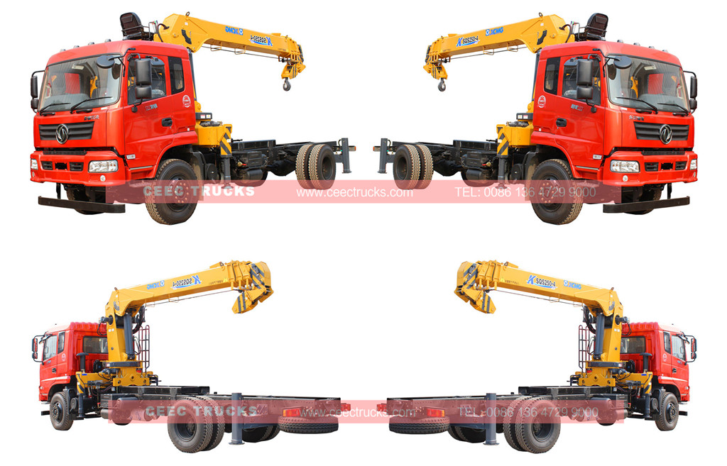 wholeview for Dongfeng 10T telescopic boom truck