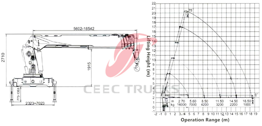 16Tons telescopic boom crane CAD drawing