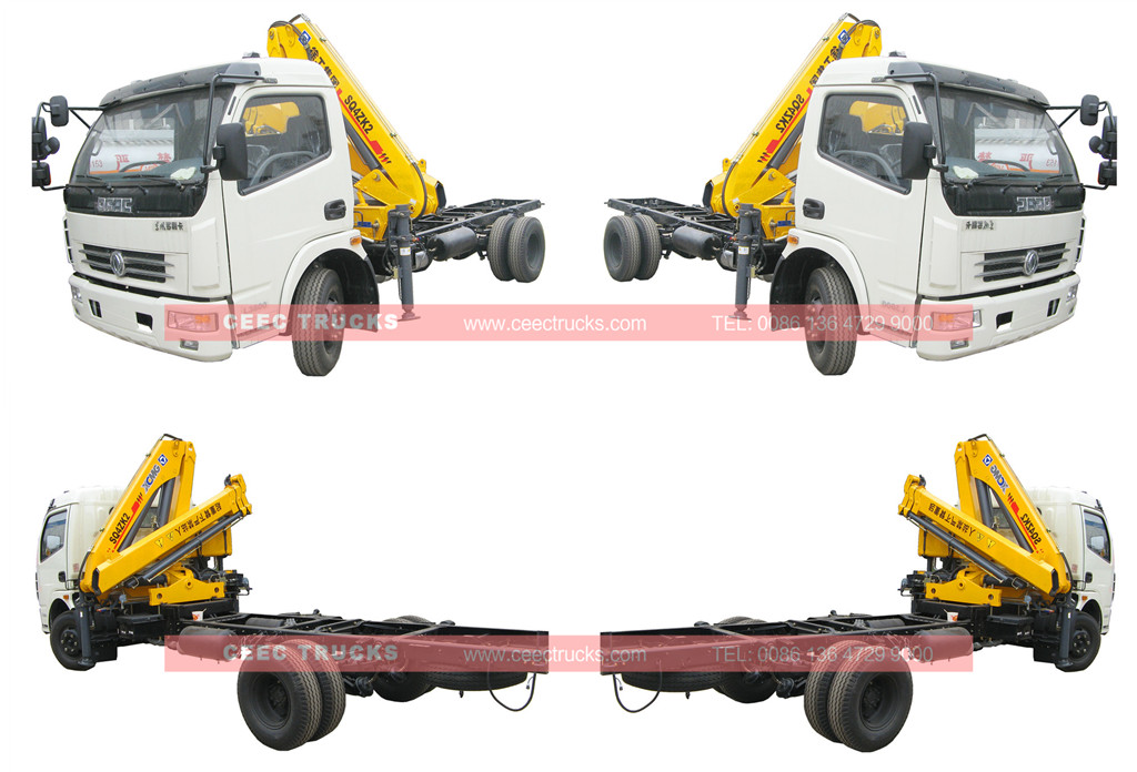 4 tons knuckle boom crane trucks wholeview