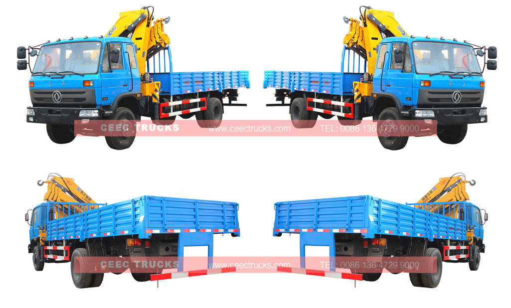 DONGFENG 10Tons knuckle crane boom truck