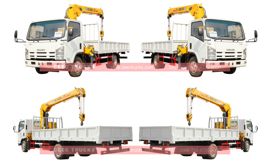 Исузу 5tons telescopic boom crane truck wholesale