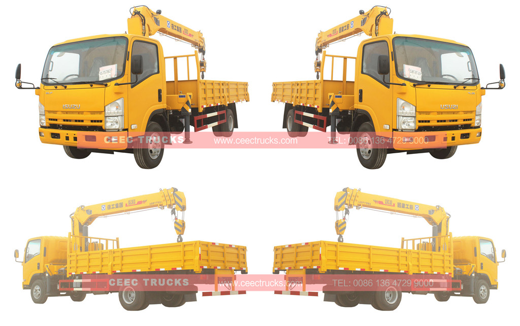 Wholeview  6.3tons crane trucks