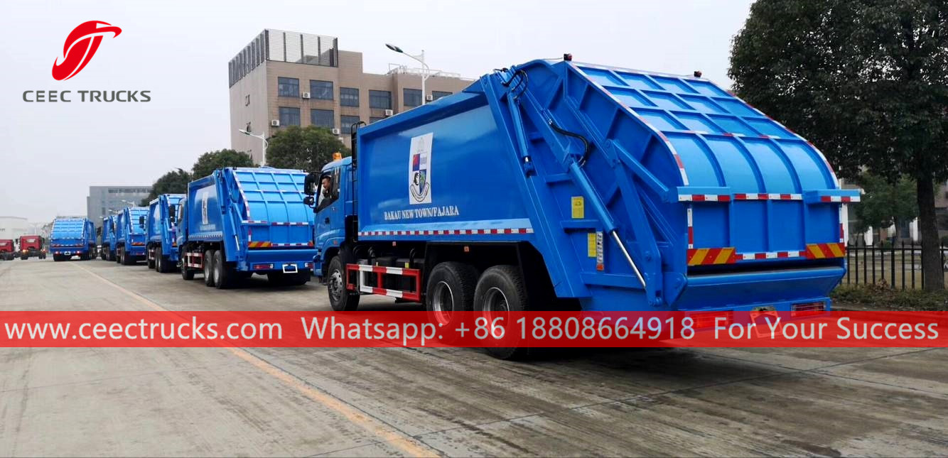 Waste compactor trucks for Gambia