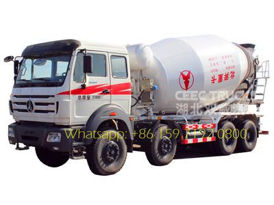 North benz 14 CBM 340HP concrete mixer truck