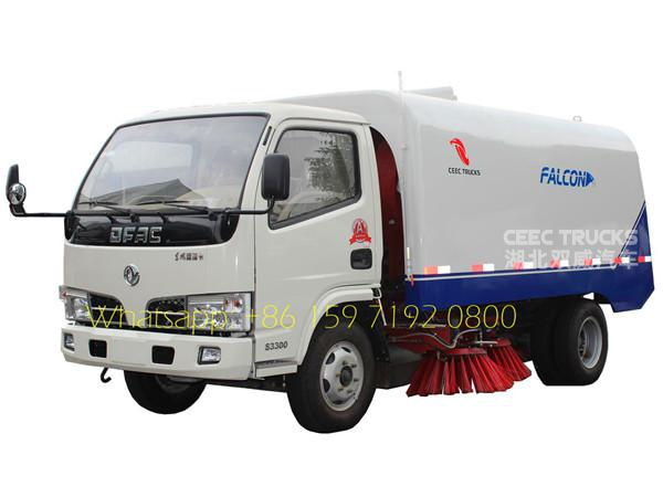 Environmental 4cbm dustbin and 1cbm water tank DONGFENG Mechanical road sweeper