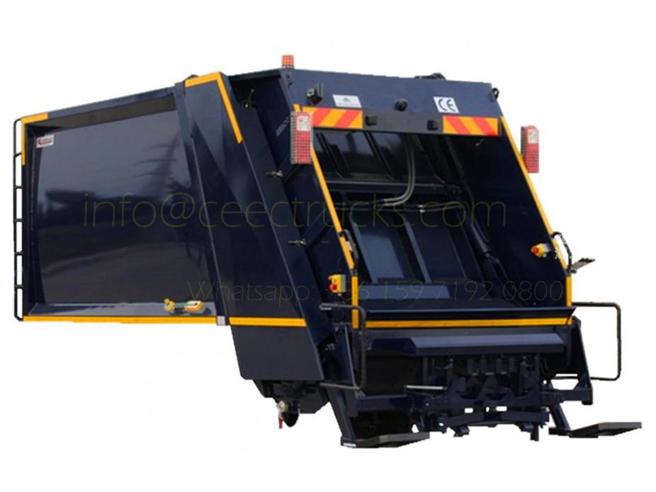 european standard 6m³ refuse compressor truck upper body