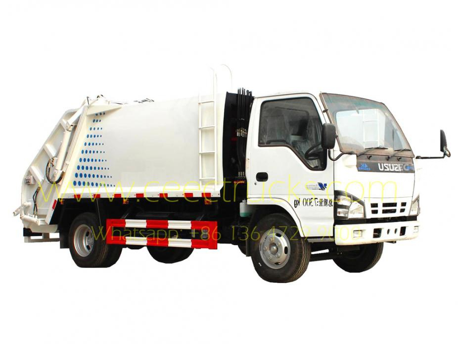 TOP quality ISUZU 5000L garbage compactor vehicle