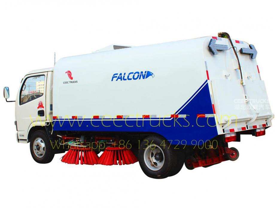 Africa Dongfeng 4000L road sweeper low price sale