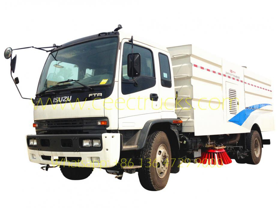 ISUZU 12CBM road sweeper truck