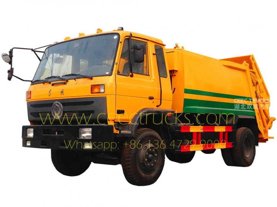 Algeria 10 cbm Dongfeng garbage compactor truck