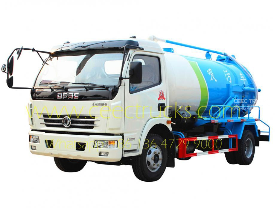 Dongfeng 8,000L Cesspool suction truck