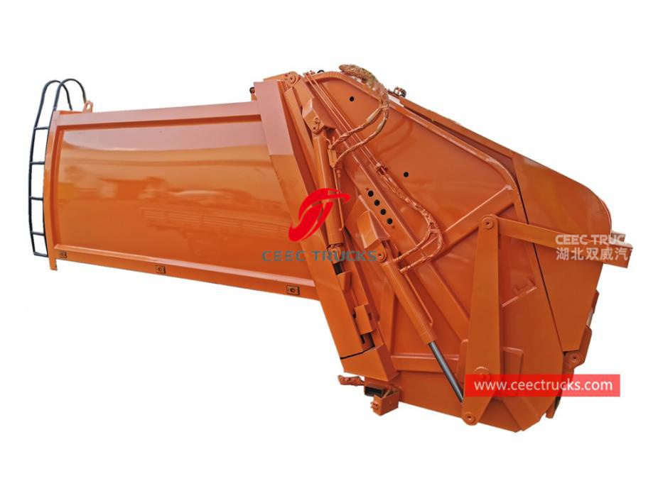 european standard 6,000 liters refuse compression truck upper body