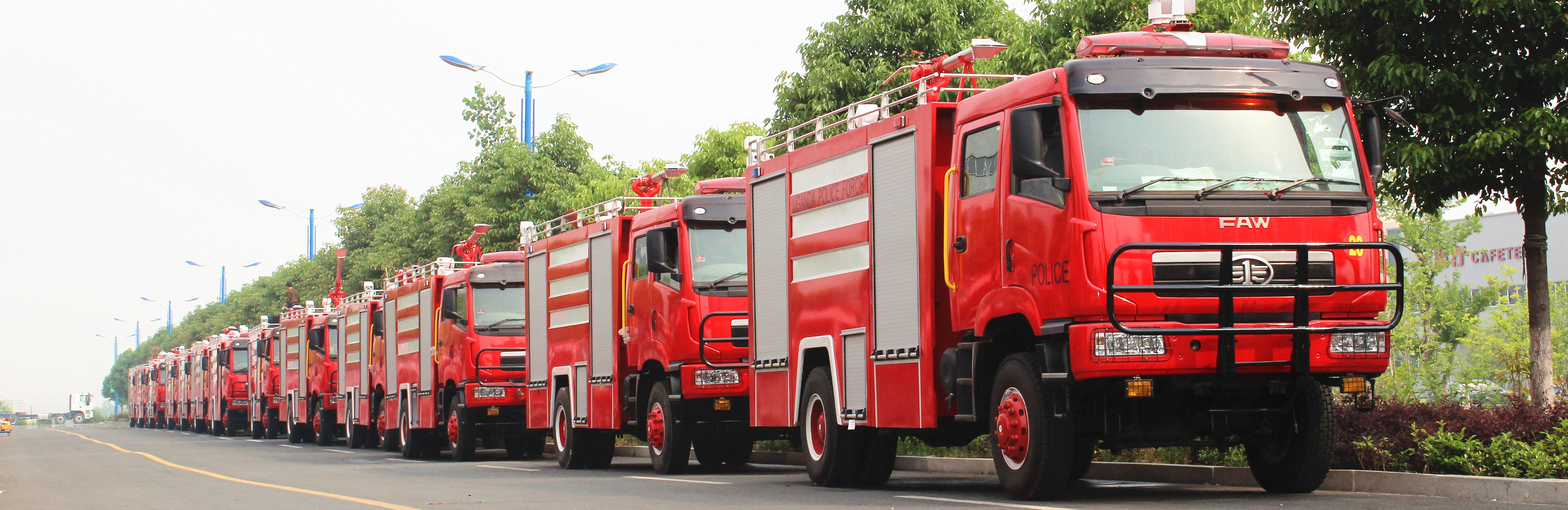 FAW RHD firefighting trucks supplier