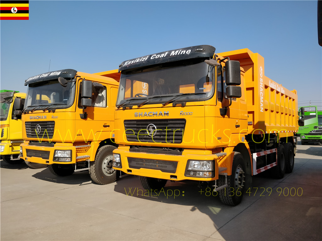 Uganda customer buy 3 units shacman RHD tipper trucks